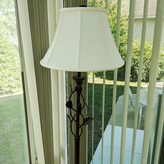 New lampshade for sunroom lamp.