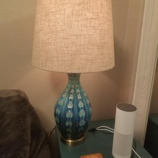 Pretty accent lamp.