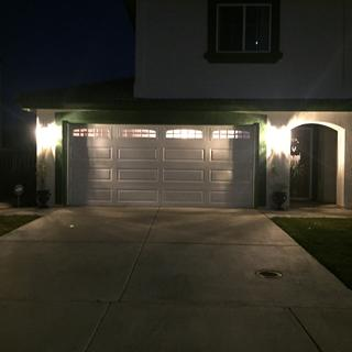 Lights up the front of the house!