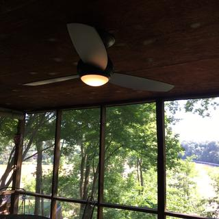Fan looks great on screened in porch. Remote didn't work. Customer service sent new part & remedied.
