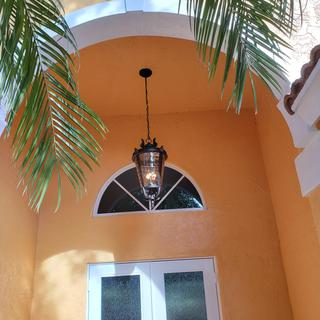 We're very happy with this light fixture.  Makes our entry look much better.