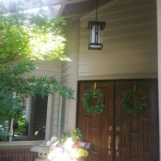 New Light in our front porch adds charm and beauty. It also gives a clear light at night.