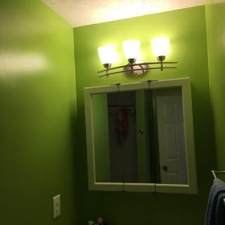 Brightens a dark bathroom corner!