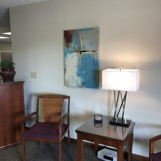 LOVE the lamp in our business office entry!  Just the right height!