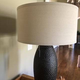 "Noah 32"" table lamp.  Oatmeal shade."