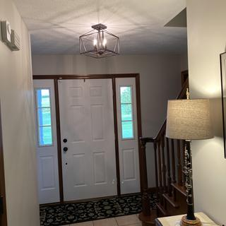 Beautiful entry hall light.