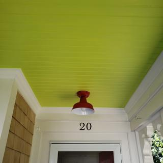 Very good quality; looks great with my apple green porch ceiling and schoolhouse red doors.