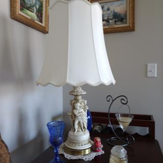 Shades were perfect for old family heirloom lamps.