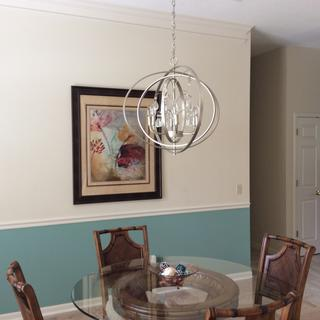 This is a unique and beautiful chandelier, especially for the price. Easy to install.