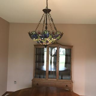 I love this light!!  It's just beautiful in my dining room.  So many compliments on it.