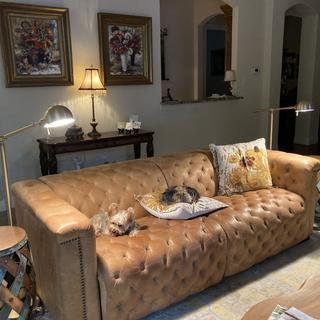 I love my Dawson Pharmacy Floor Lamps.  Don't be afraid to mix it up!  My Yorkie love this lighting!