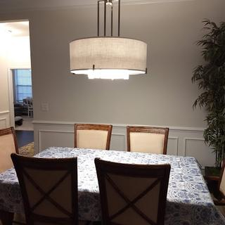 Possini Light Fixture over Dining Room Table