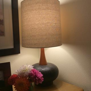 Beautiful atop my Heywood Wakefield vintage dresser. Thanks, Lamps Plus.