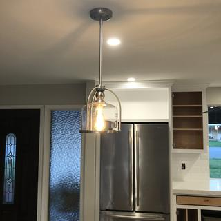 Great pendant light for our island!