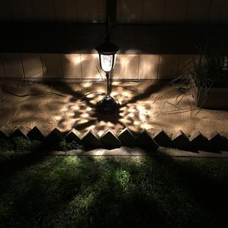 Led path light at night