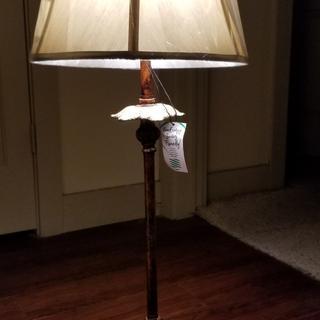Light bronze lamp shade.