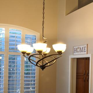Thank you Lamps Plus for stocking this beautiful Franklin ribbon Chandelier.
