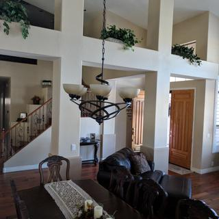 This chandelier is perfect in my living room.