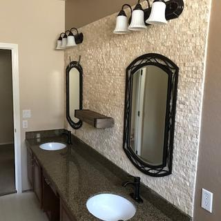 I love this new look for my bathroom.  Elegant!