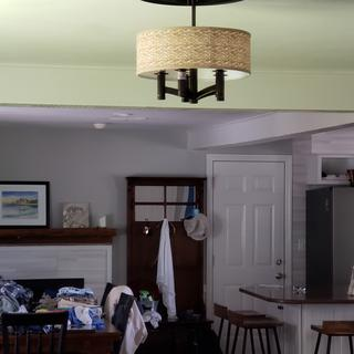 Go bigger if you wanted your light to make a statement.   More for a smaller room.