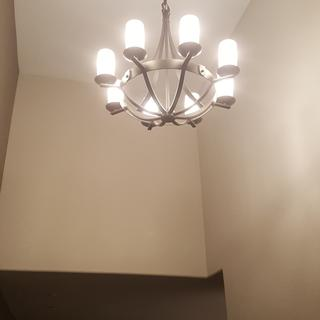We are happy with our new light in the entry way. It's the perfect fit.