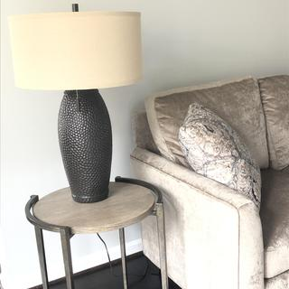 Great lamp. Very large lamp but beautiful and fits my space perfectly. Love the two pull chains.