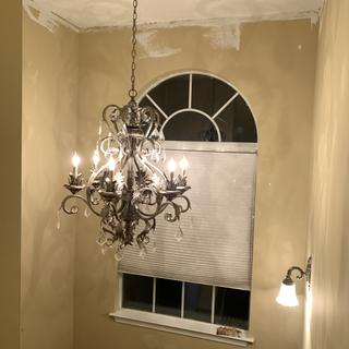 Perfect chandelier to add some pizzazz to your vaulted ceilings.
