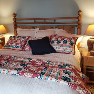 Beautiful Socorro lamps completed our master bedroom look!
