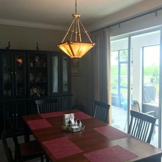 We love our new chandelier - just what we were looking for!