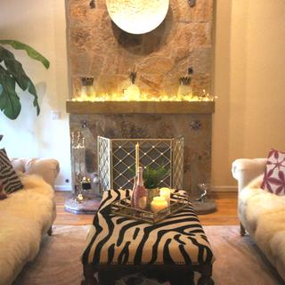 We love this couch super stylish buy 2 sheepskins and you got it !!!