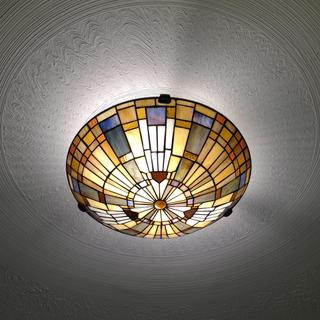 We love this ceiling light.  It fit the location perfectly.