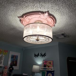 Sara's Jewel ceiling light in champagne