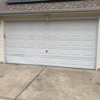 Both sides of our garage