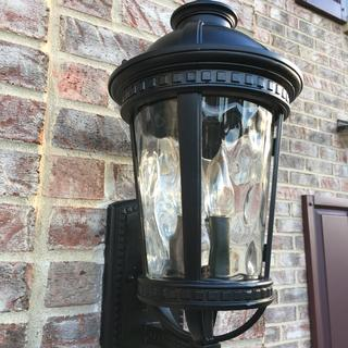 New light up from junction box, both the garage and the porch on switch timers