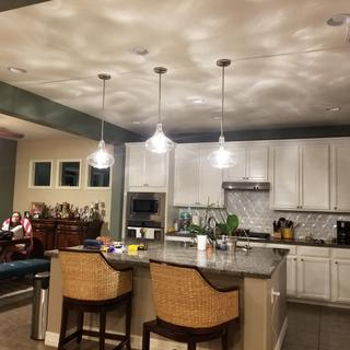 3 pendants installed over our islamd