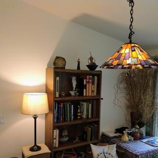 We purchased Tiffany dining room first & table lamp in set of three through Majority. Happy with all
