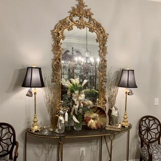 These lamps were just the elegant touch I needed to complete the look in my dining room.