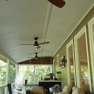 "52"" Casa Delta-Wing Bronze Outdoor LED Ceiling Fan"