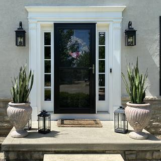 It took me forever to find exterior sconces that spoke to me. These are perfect! Highly recommend.