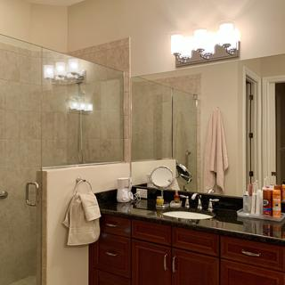 """above our """"working"""" vanity at master bathroom"""