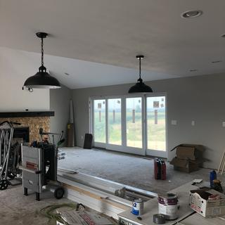 New construction (don't mind the mess) but these lights are too beautiful NOT TO SHARE!