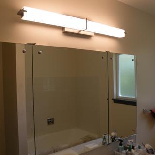 Kichler Zel 37 1/2 inch Wide Brushed Nickel Linear LED Bath Light