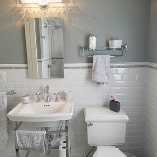 Bathroom Renovation with light over sink
