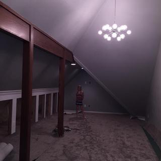 Playroom side has 2 of these lights.