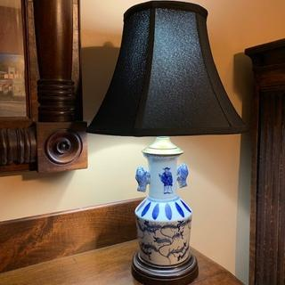 One of a pair of Chinese lamps in my study