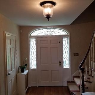 Front hall...three 40 watt bulbs