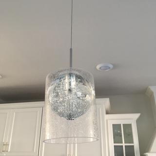 Additional lamp shade over globe