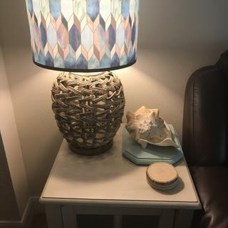 "Purchased two for our ""beach/ocean"" theme living room end tables and they're fantastic! Perfect!"