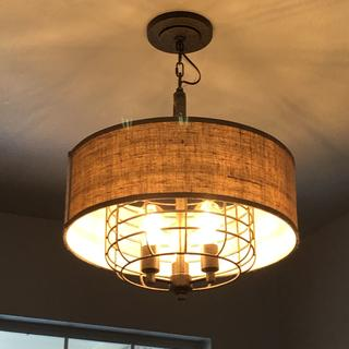 The lamp is perfect for our foyer. We love it!
