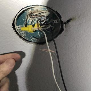 Black mark from bulb exploding